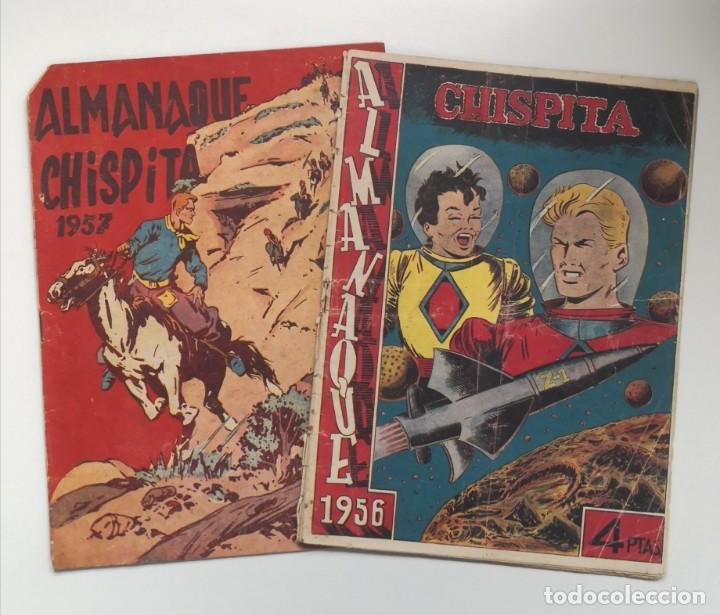 ALMANAQUES CHISPITA 1957 Y 1957 (Tebeos y Comics - Grafidea - Chispita)