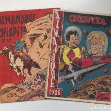 Tebeos: ALMANAQUES CHISPITA 1957 Y 1957. Lote 219988970