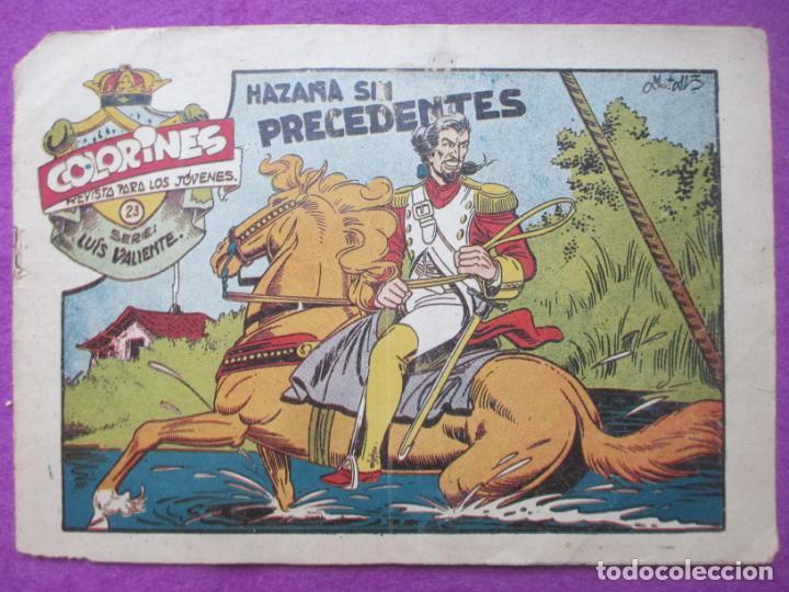 TEBEO COLORINES Nº23 HAZAÑA SIN PRECEDENTES ED. GRAFIDEA ORIGINAL (Tebeos y Comics - Grafidea - Otros)