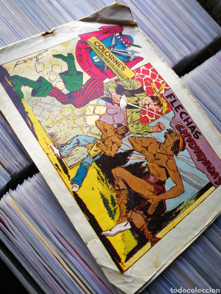 EL TEMIBLE PIRATA (REVISTA COLORINES)- FLECHAS ENVENENADAS, N°7, EDITORIAL GRAFIDEA. DIFÍCIL!! (Tebeos y Comics - Grafidea - Otros)