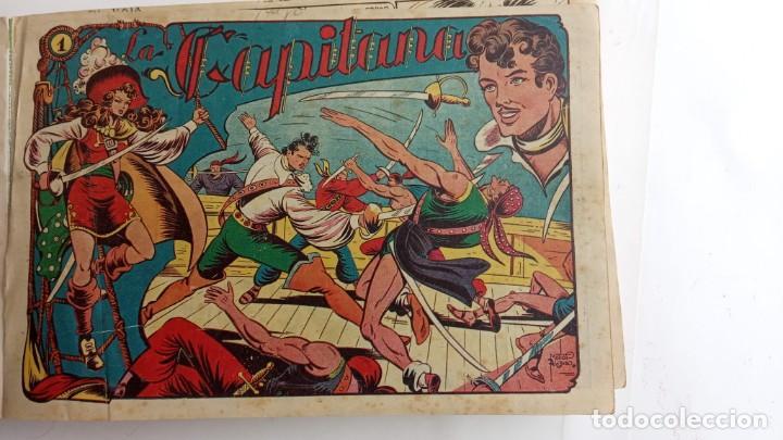 Tebeos: LA CAPITANA Y EL AMULETO VERDE ORIGINALES COMPLETAS, SERIE CHARRO TEMERARIO, MUY BUENAS, VER FOTOS - Foto 2 - 224835301