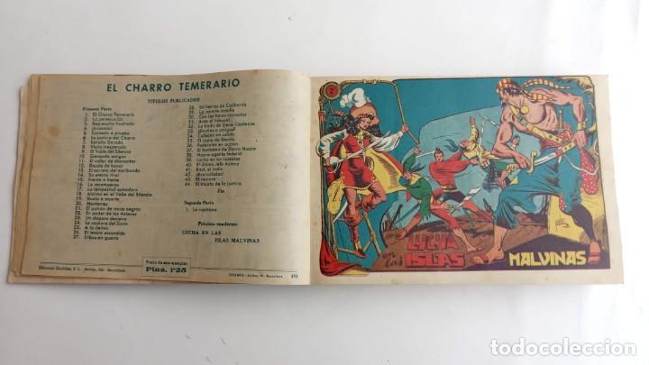 Tebeos: LA CAPITANA Y EL AMULETO VERDE ORIGINALES COMPLETAS, SERIE CHARRO TEMERARIO, MUY BUENAS, VER FOTOS - Foto 8 - 224835301