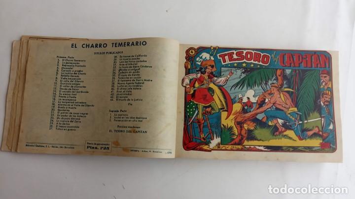Tebeos: LA CAPITANA Y EL AMULETO VERDE ORIGINALES COMPLETAS, SERIE CHARRO TEMERARIO, MUY BUENAS, VER FOTOS - Foto 18 - 224835301