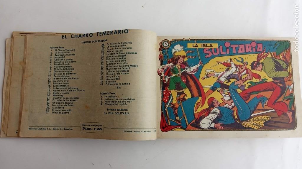 Tebeos: LA CAPITANA Y EL AMULETO VERDE ORIGINALES COMPLETAS, SERIE CHARRO TEMERARIO, MUY BUENAS, VER FOTOS - Foto 20 - 224835301