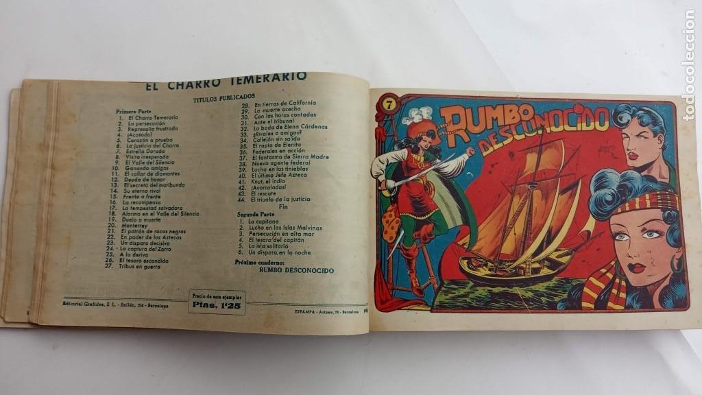 Tebeos: LA CAPITANA Y EL AMULETO VERDE ORIGINALES COMPLETAS, SERIE CHARRO TEMERARIO, MUY BUENAS, VER FOTOS - Foto 28 - 224835301