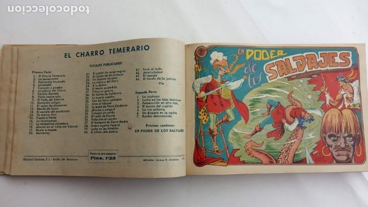 Tebeos: LA CAPITANA Y EL AMULETO VERDE ORIGINALES COMPLETAS, SERIE CHARRO TEMERARIO, MUY BUENAS, VER FOTOS - Foto 31 - 224835301