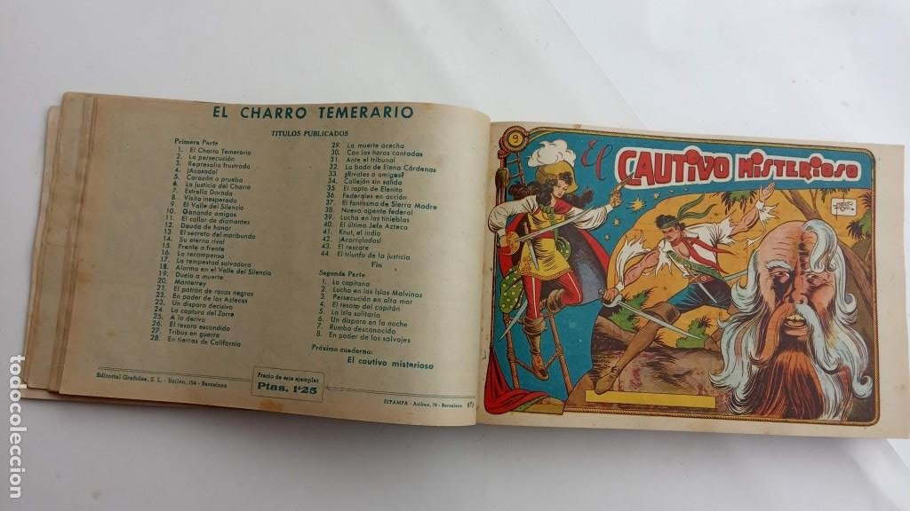 Tebeos: LA CAPITANA Y EL AMULETO VERDE ORIGINALES COMPLETAS, SERIE CHARRO TEMERARIO, MUY BUENAS, VER FOTOS - Foto 36 - 224835301
