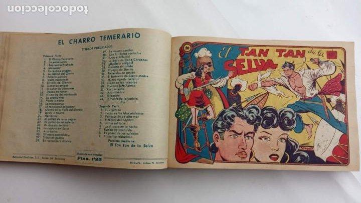 Tebeos: LA CAPITANA Y EL AMULETO VERDE ORIGINALES COMPLETAS, SERIE CHARRO TEMERARIO, MUY BUENAS, VER FOTOS - Foto 40 - 224835301