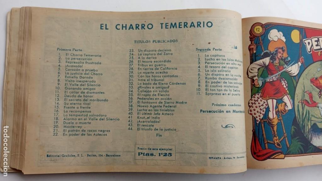 Tebeos: LA CAPITANA Y EL AMULETO VERDE ORIGINALES COMPLETAS, SERIE CHARRO TEMERARIO, MUY BUENAS, VER FOTOS - Foto 47 - 224835301