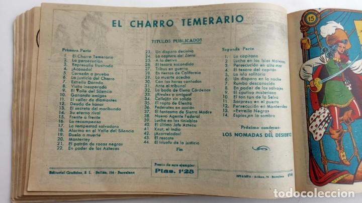 Tebeos: LA CAPITANA Y EL AMULETO VERDE ORIGINALES COMPLETAS, SERIE CHARRO TEMERARIO, MUY BUENAS, VER FOTOS - Foto 60 - 224835301