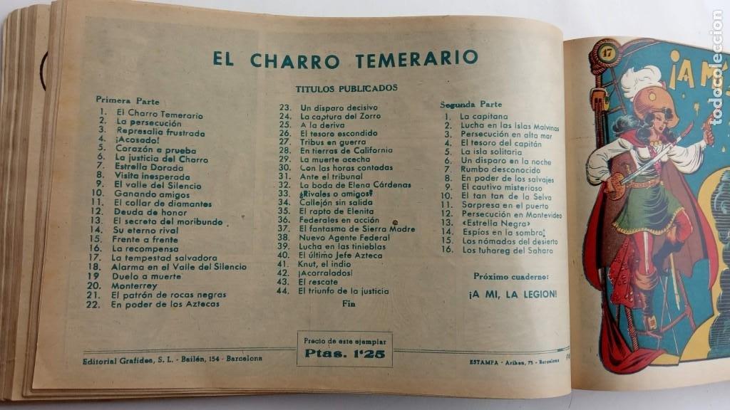 Tebeos: LA CAPITANA Y EL AMULETO VERDE ORIGINALES COMPLETAS, SERIE CHARRO TEMERARIO, MUY BUENAS, VER FOTOS - Foto 71 - 224835301