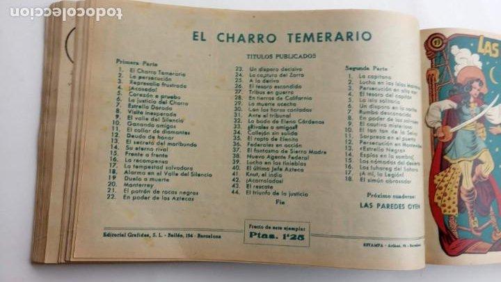 Tebeos: LA CAPITANA Y EL AMULETO VERDE ORIGINALES COMPLETAS, SERIE CHARRO TEMERARIO, MUY BUENAS, VER FOTOS - Foto 78 - 224835301