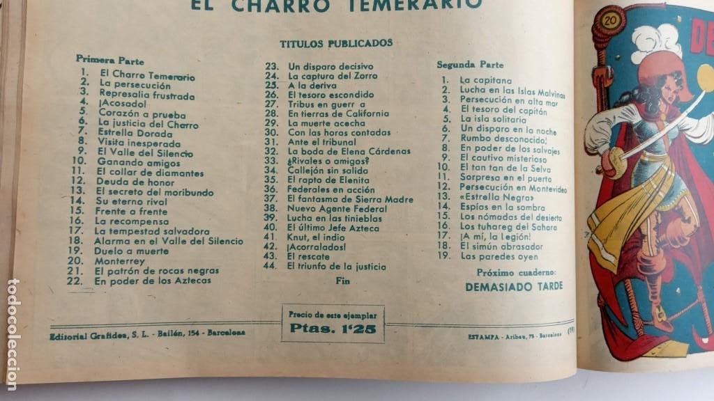 Tebeos: LA CAPITANA Y EL AMULETO VERDE ORIGINALES COMPLETAS, SERIE CHARRO TEMERARIO, MUY BUENAS, VER FOTOS - Foto 80 - 224835301
