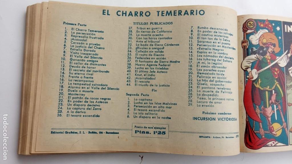 Tebeos: LA CAPITANA Y EL AMULETO VERDE ORIGINALES COMPLETAS, SERIE CHARRO TEMERARIO, MUY BUENAS, VER FOTOS - Foto 101 - 224835301