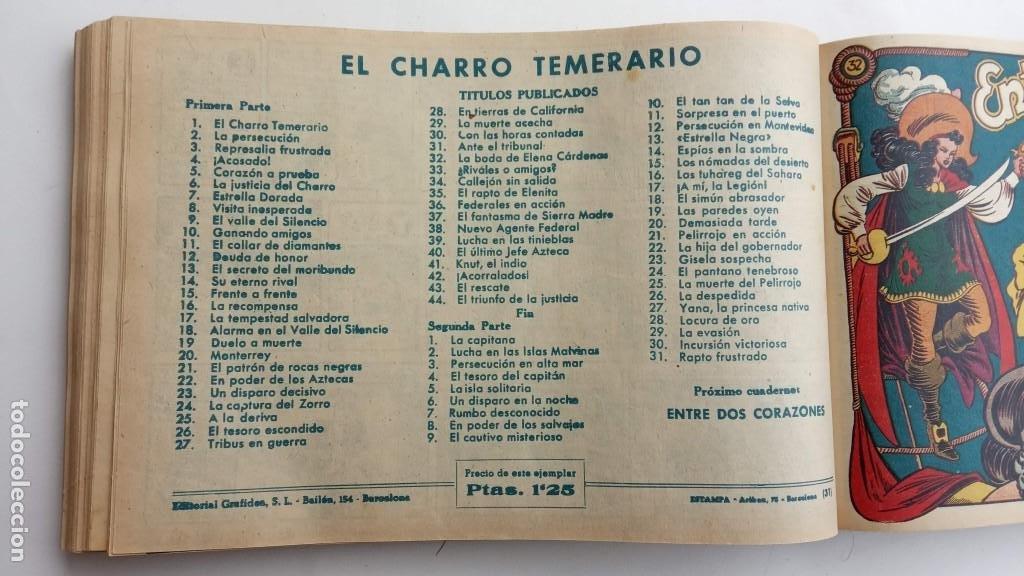 Tebeos: LA CAPITANA Y EL AMULETO VERDE ORIGINALES COMPLETAS, SERIE CHARRO TEMERARIO, MUY BUENAS, VER FOTOS - Foto 105 - 224835301