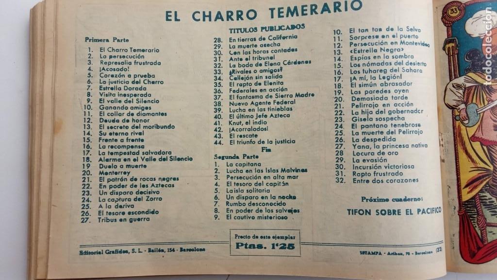 Tebeos: LA CAPITANA Y EL AMULETO VERDE ORIGINALES COMPLETAS, SERIE CHARRO TEMERARIO, MUY BUENAS, VER FOTOS - Foto 108 - 224835301