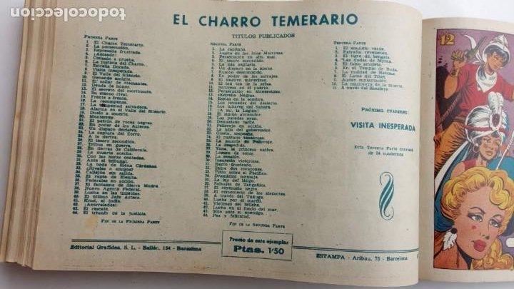 Tebeos: LA CAPITANA Y EL AMULETO VERDE ORIGINALES COMPLETAS, SERIE CHARRO TEMERARIO, MUY BUENAS, VER FOTOS - Foto 173 - 224835301
