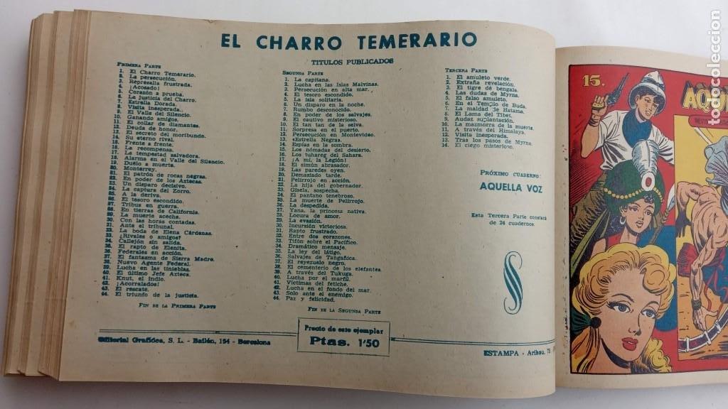 Tebeos: LA CAPITANA Y EL AMULETO VERDE ORIGINALES COMPLETAS, SERIE CHARRO TEMERARIO, MUY BUENAS, VER FOTOS - Foto 179 - 224835301