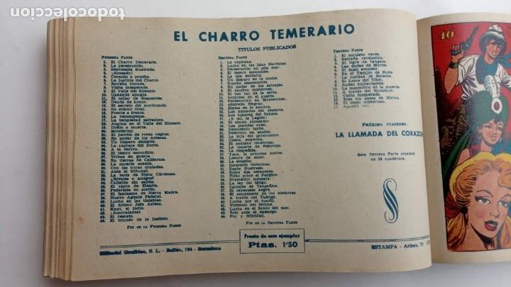 Tebeos: LA CAPITANA Y EL AMULETO VERDE ORIGINALES COMPLETAS, SERIE CHARRO TEMERARIO, MUY BUENAS, VER FOTOS - Foto 182 - 224835301