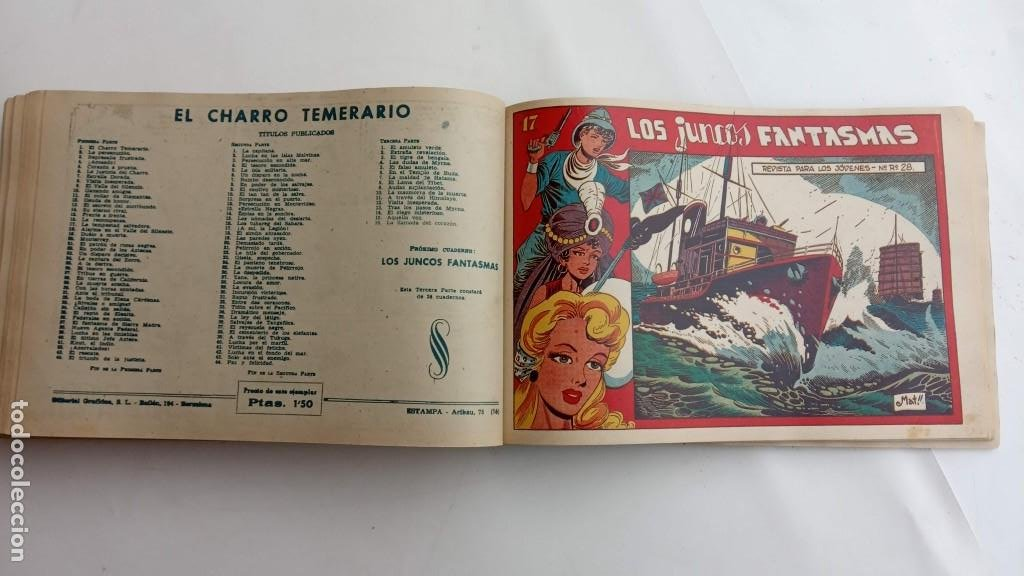 Tebeos: LA CAPITANA Y EL AMULETO VERDE ORIGINALES COMPLETAS, SERIE CHARRO TEMERARIO, MUY BUENAS, VER FOTOS - Foto 184 - 224835301