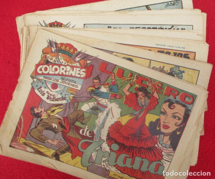 LOTE 11 TEBEOS COLORINES SERIE LUIS VALIENTE GRAFIDEA ORIGINAL (Tebeos y Comics - Grafidea - Otros)