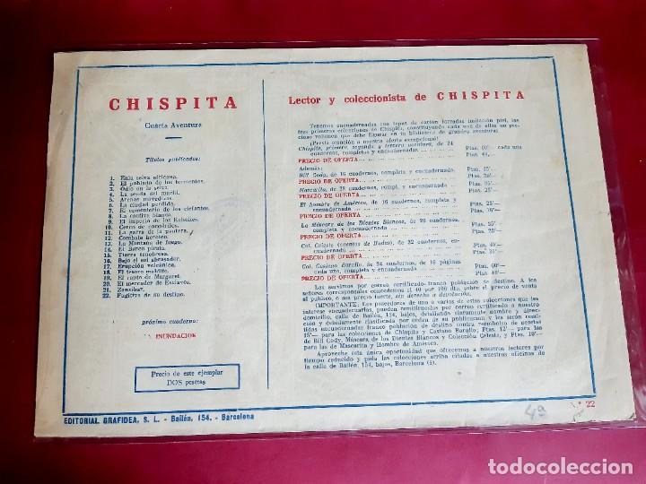 Tebeos: CHISPITA 4ª AVENTURA Nº 22 -EXCELENTE ESTADO - Foto 2 - 227575720