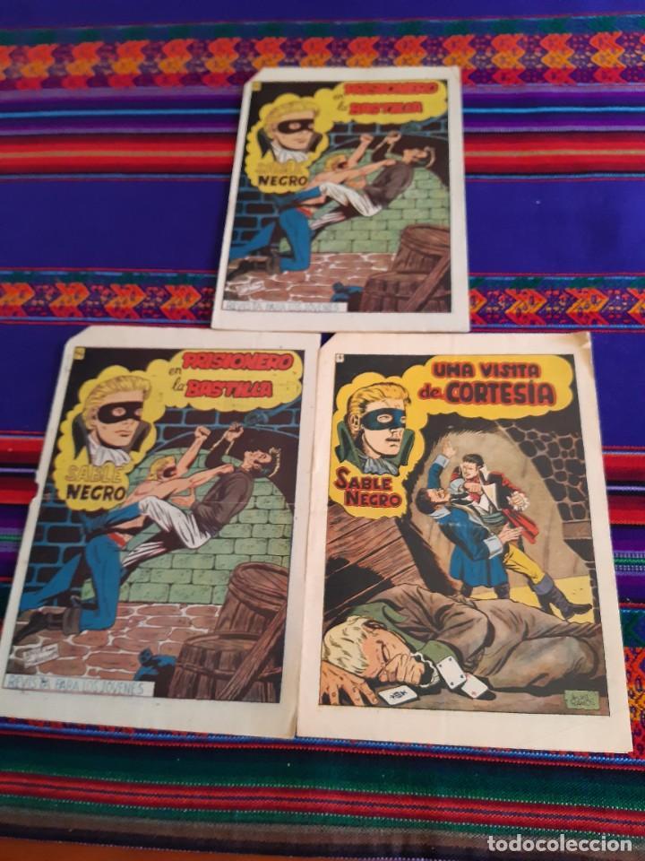 LOTE SABLE NEGRO NºS 4, 14 Y 14. GRAFIDEA 1957. ORIGINALES Y MUY, MUY DIFÍCILES. (Tebeos y Comics - Grafidea - Otros)