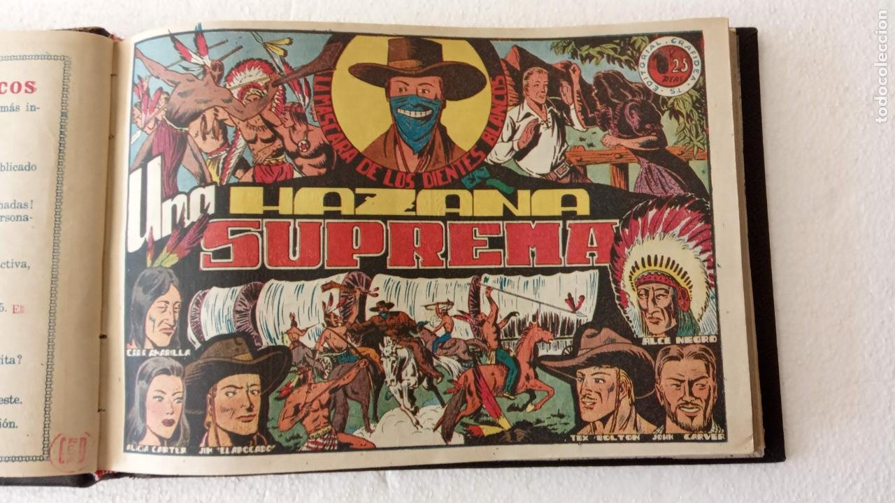 Tebeos: LA MÁSCARA DE LOS DIENTES BLANCOS ORIGINAL COMPLETA - GRAFIDEA 1947 - Foto 5 - 233791200