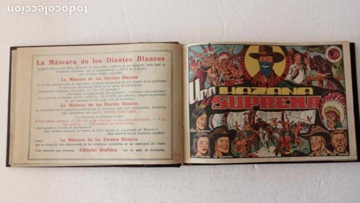 Tebeos: LA MÁSCARA DE LOS DIENTES BLANCOS ORIGINAL COMPLETA - GRAFIDEA 1947 - Foto 6 - 233791200