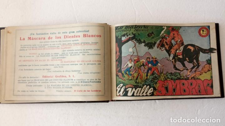 Tebeos: LA MÁSCARA DE LOS DIENTES BLANCOS ORIGINAL COMPLETA - GRAFIDEA 1947 - Foto 9 - 233791200
