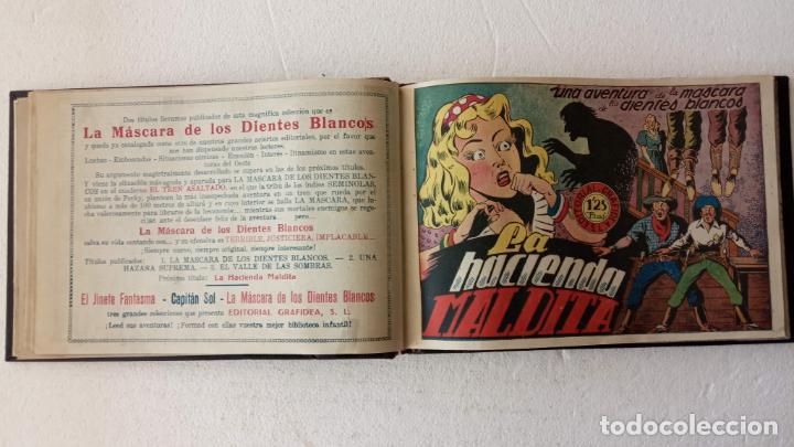 Tebeos: LA MÁSCARA DE LOS DIENTES BLANCOS ORIGINAL COMPLETA - GRAFIDEA 1947 - Foto 11 - 233791200