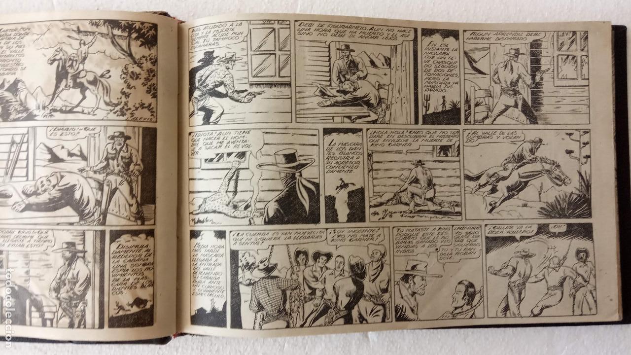 Tebeos: LA MÁSCARA DE LOS DIENTES BLANCOS ORIGINAL COMPLETA - GRAFIDEA 1947 - Foto 12 - 233791200