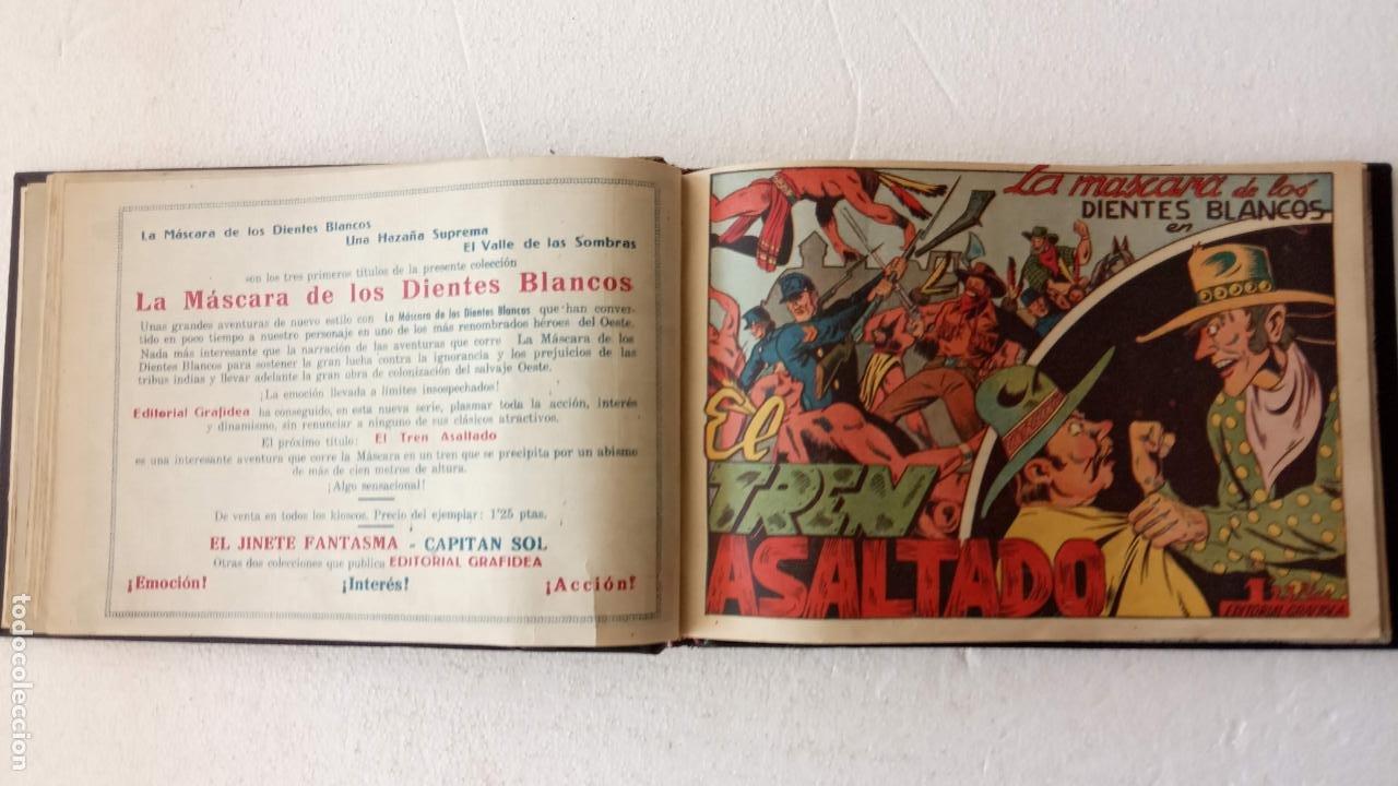 Tebeos: LA MÁSCARA DE LOS DIENTES BLANCOS ORIGINAL COMPLETA - GRAFIDEA 1947 - Foto 13 - 233791200