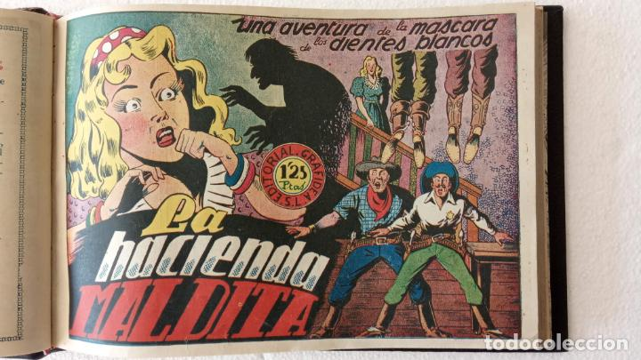 Tebeos: LA MÁSCARA DE LOS DIENTES BLANCOS ORIGINAL COMPLETA - GRAFIDEA 1947 - Foto 14 - 233791200