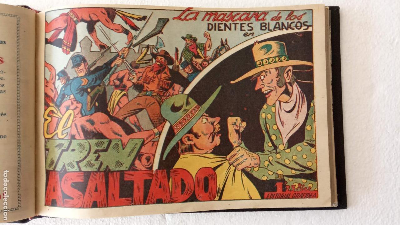 Tebeos: LA MÁSCARA DE LOS DIENTES BLANCOS ORIGINAL COMPLETA - GRAFIDEA 1947 - Foto 16 - 233791200