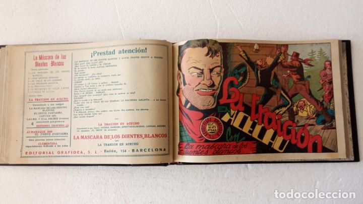 Tebeos: LA MÁSCARA DE LOS DIENTES BLANCOS ORIGINAL COMPLETA - GRAFIDEA 1947 - Foto 18 - 233791200