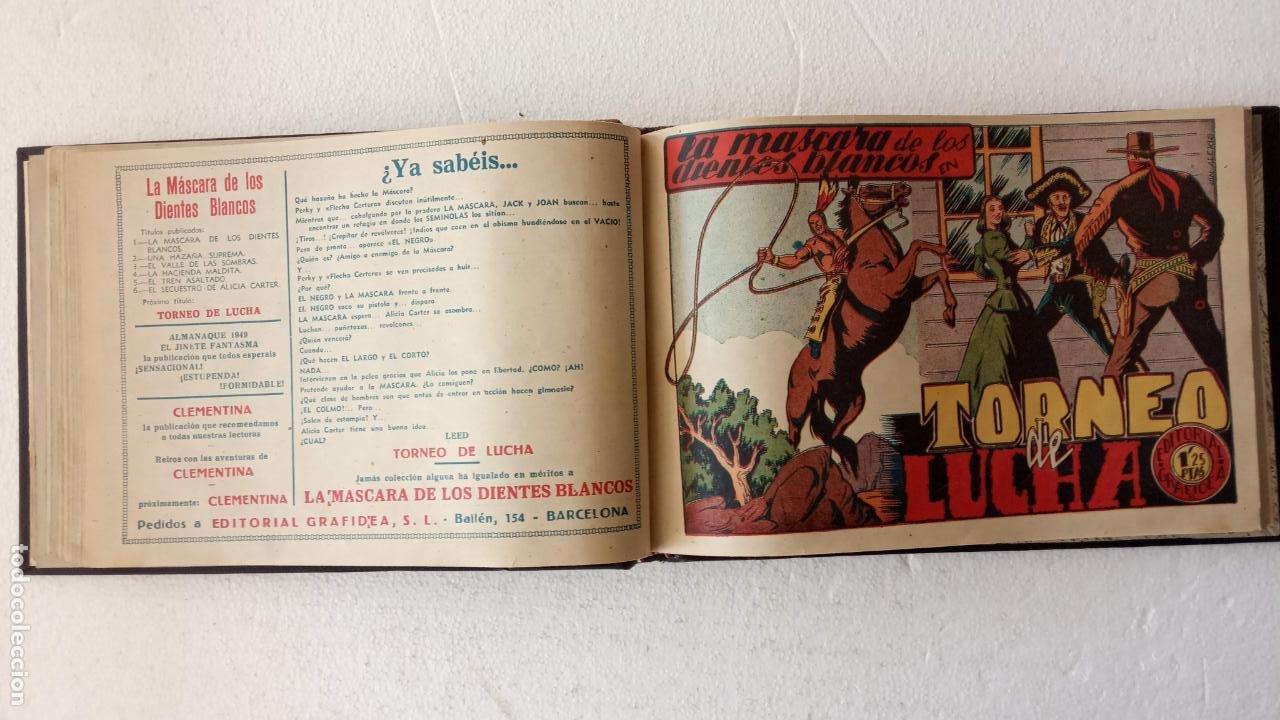Tebeos: LA MÁSCARA DE LOS DIENTES BLANCOS ORIGINAL COMPLETA - GRAFIDEA 1947 - Foto 19 - 233791200