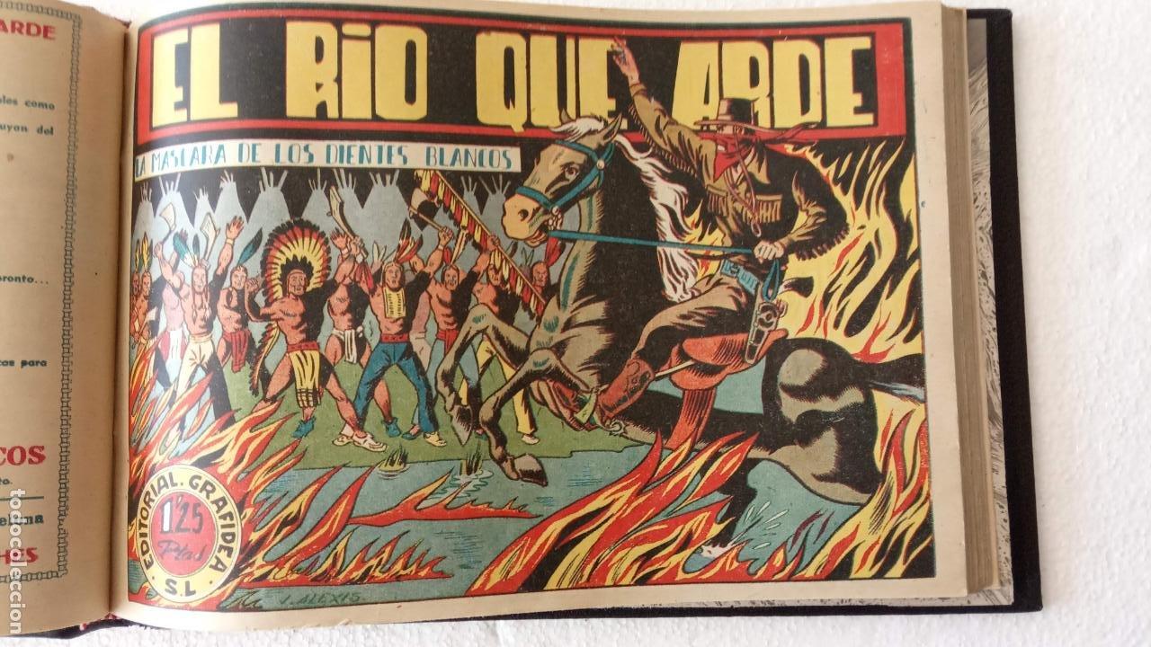 Tebeos: LA MÁSCARA DE LOS DIENTES BLANCOS ORIGINAL COMPLETA - GRAFIDEA 1947 - Foto 20 - 233791200