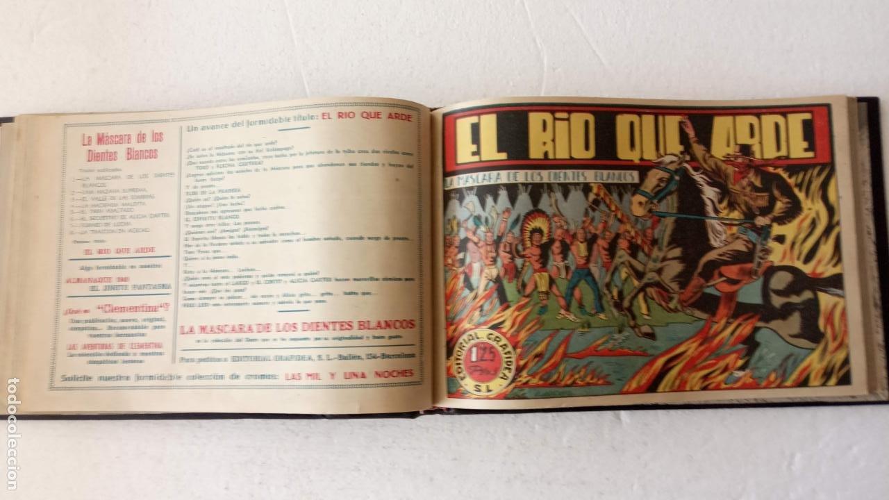 Tebeos: LA MÁSCARA DE LOS DIENTES BLANCOS ORIGINAL COMPLETA - GRAFIDEA 1947 - Foto 21 - 233791200