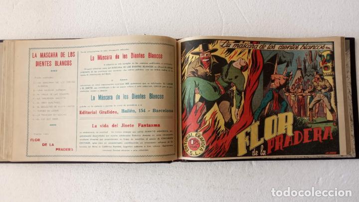 Tebeos: LA MÁSCARA DE LOS DIENTES BLANCOS ORIGINAL COMPLETA - GRAFIDEA 1947 - Foto 22 - 233791200