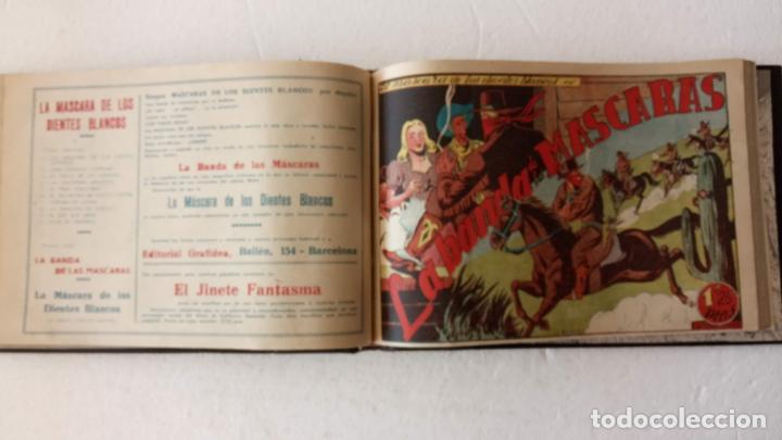 Tebeos: LA MÁSCARA DE LOS DIENTES BLANCOS ORIGINAL COMPLETA - GRAFIDEA 1947 - Foto 25 - 233791200