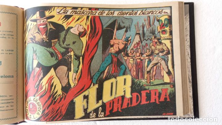 Tebeos: LA MÁSCARA DE LOS DIENTES BLANCOS ORIGINAL COMPLETA - GRAFIDEA 1947 - Foto 27 - 233791200
