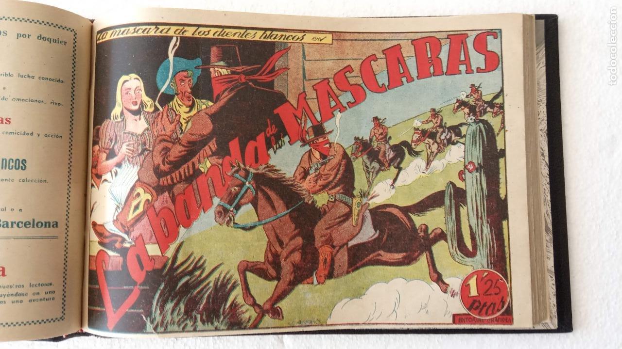 Tebeos: LA MÁSCARA DE LOS DIENTES BLANCOS ORIGINAL COMPLETA - GRAFIDEA 1947 - Foto 29 - 233791200