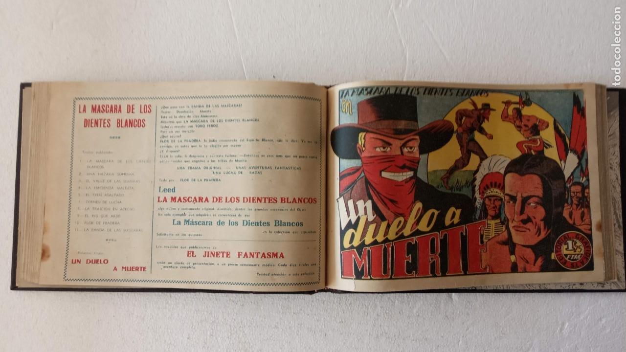 Tebeos: LA MÁSCARA DE LOS DIENTES BLANCOS ORIGINAL COMPLETA - GRAFIDEA 1947 - Foto 30 - 233791200