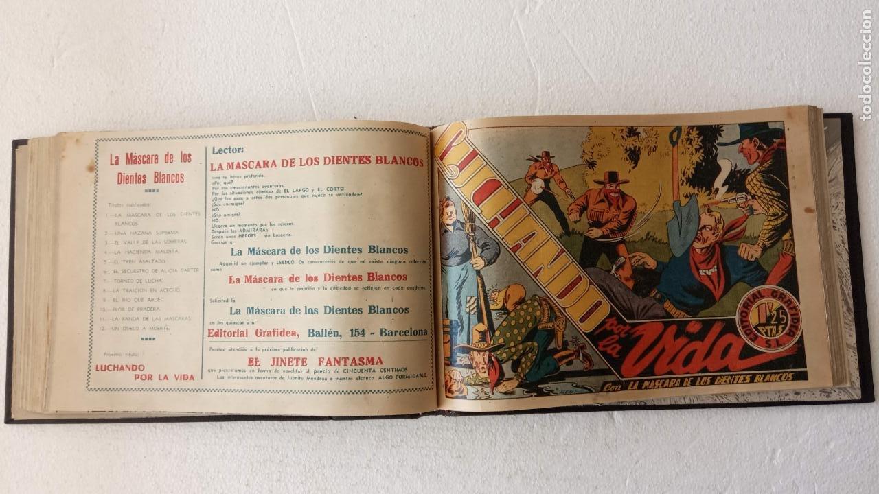 Tebeos: LA MÁSCARA DE LOS DIENTES BLANCOS ORIGINAL COMPLETA - GRAFIDEA 1947 - Foto 32 - 233791200