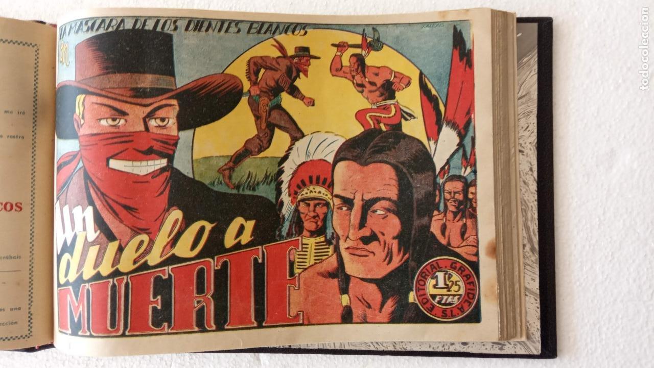 Tebeos: LA MÁSCARA DE LOS DIENTES BLANCOS ORIGINAL COMPLETA - GRAFIDEA 1947 - Foto 33 - 233791200