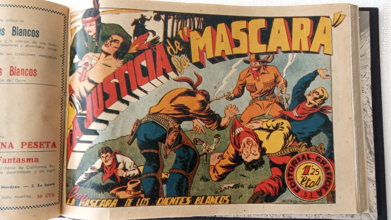 Tebeos: LA MÁSCARA DE LOS DIENTES BLANCOS ORIGINAL COMPLETA - GRAFIDEA 1947 - Foto 36 - 233791200