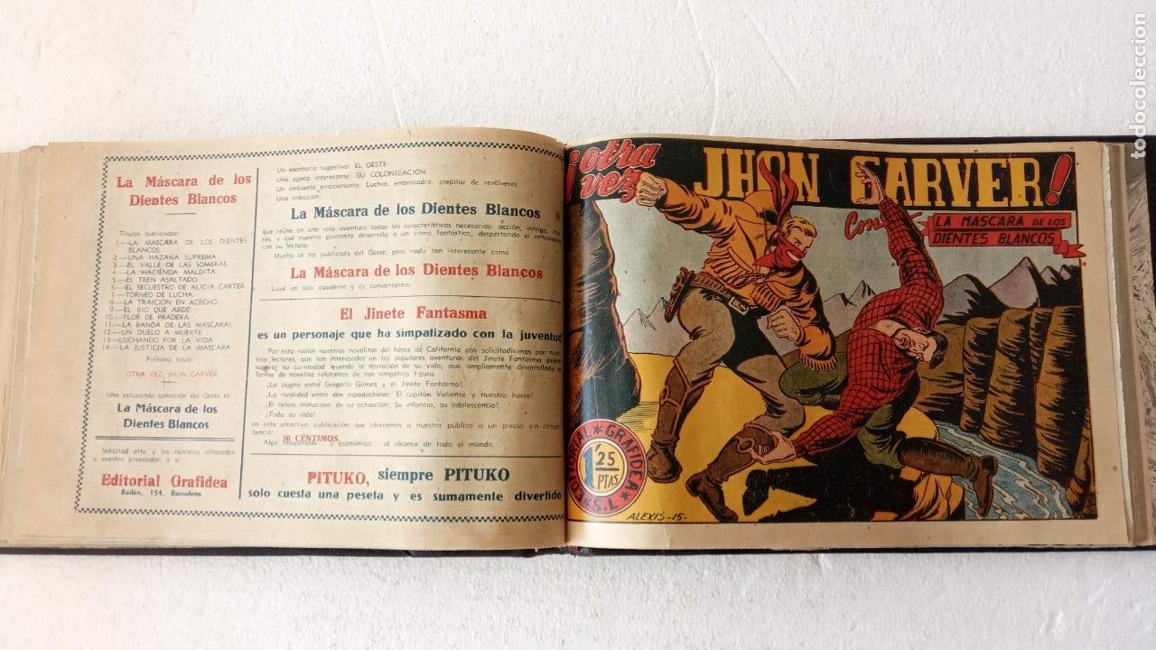 Tebeos: LA MÁSCARA DE LOS DIENTES BLANCOS ORIGINAL COMPLETA - GRAFIDEA 1947 - Foto 38 - 233791200
