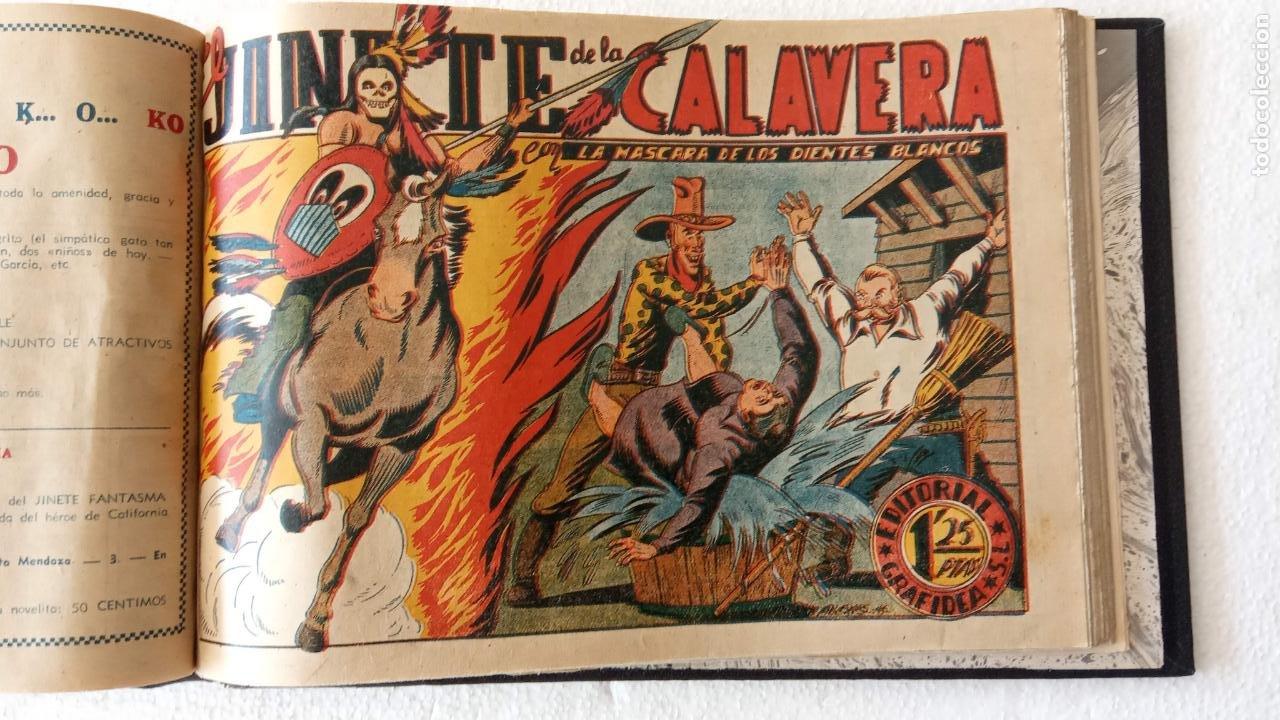 Tebeos: LA MÁSCARA DE LOS DIENTES BLANCOS ORIGINAL COMPLETA - GRAFIDEA 1947 - Foto 39 - 233791200