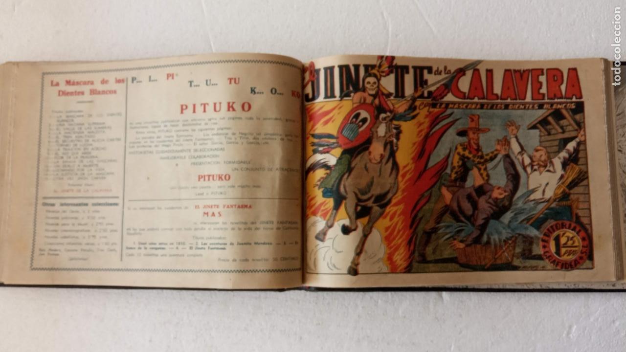 Tebeos: LA MÁSCARA DE LOS DIENTES BLANCOS ORIGINAL COMPLETA - GRAFIDEA 1947 - Foto 40 - 233791200